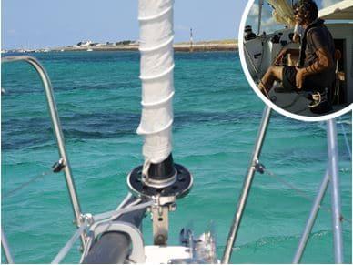Journee voile en Bretagne Sud avec un skipper pro