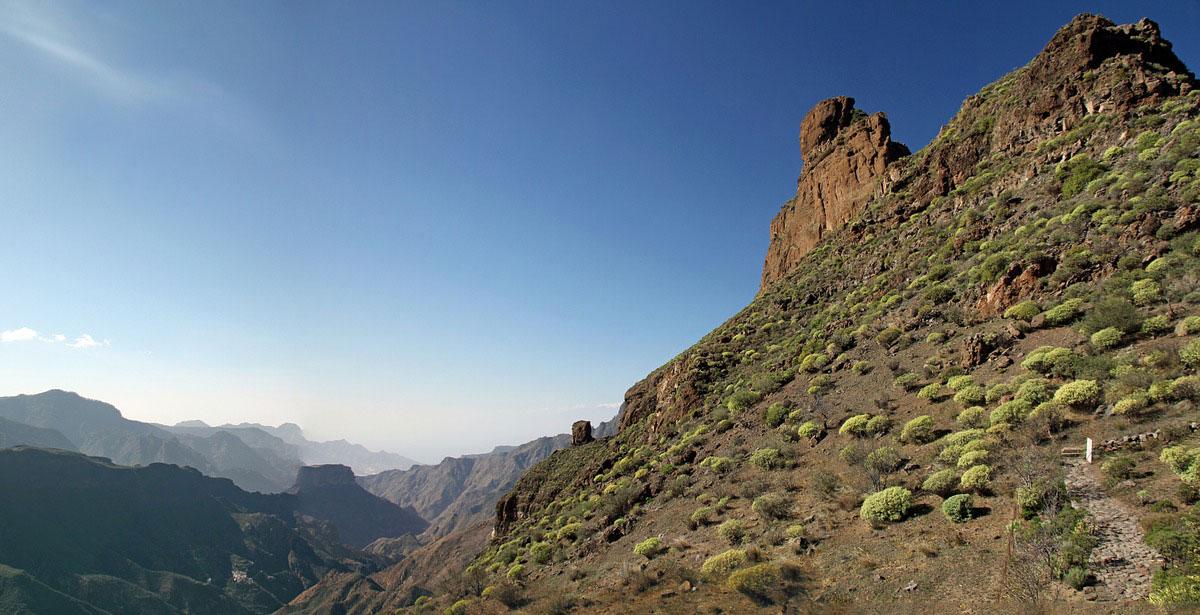Paysage désertique sur Gran Canaria