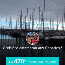Miniature de l'offre de croisière Skippair catamaran aux Canaries avec Han et Ingrid