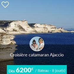 Miniature de l'offre de croisière catamaran Skippair en Corse, au départ d'Ajaccio, avec Jean-Pierre