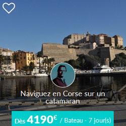 Miniature de l'offre de croisière catamaran Skippair en Corse avec William