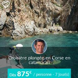 Miniature de croisière catamaran Skippair voile et plongée en Corse avec Yann