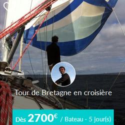 Miniature de l'offre Skippair tour de Bretagne en voilier privatisé avec David