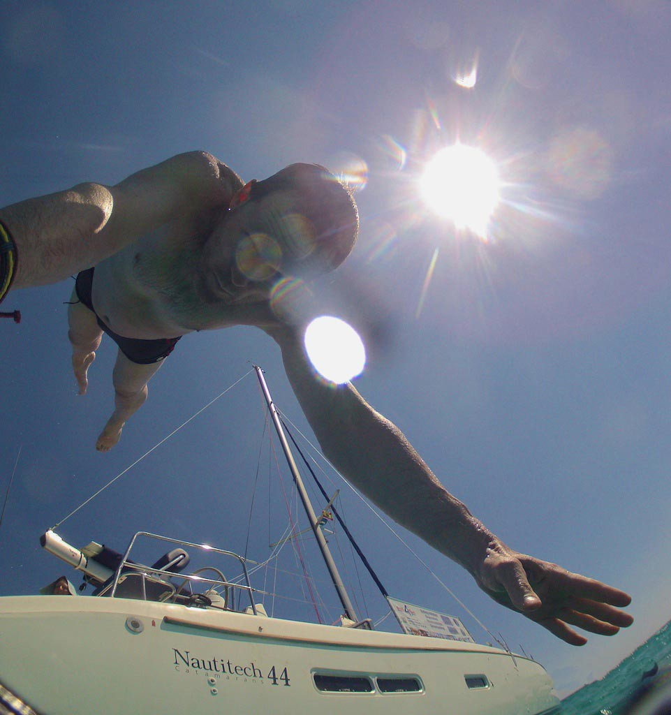 Croisiere cabine en catamaran a Majorque - Bains de mer