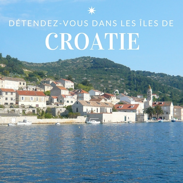 Village au bord de l'Adriatique, lors d'une croisière en voilier en Croatie