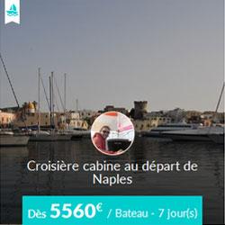 Miniature de l'offre de croisière privatisée Skippair avec Fabrizio en baie de Naples