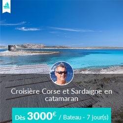Miniature de l'offre de croisière catamaran Skippair avec Patrice en Corse et Sardaigne