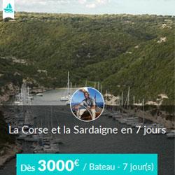 Miniature de l'offre de croisière Skippair avec Christophe en Corse et Sardaigne