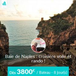 Miniature de l'offre de croisière privatisée Skippair voile et rando avec Fabrizio en baie de Naples