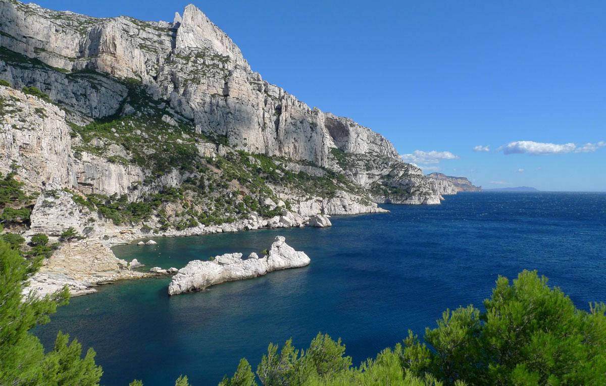Les calanques vues du Cap Morgiou, du Torpilleur à l'Oeil-de-Verre, en passant par les Pierres-Tombées