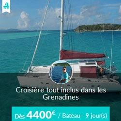 Miniature de l'offre de croisière Skippair tout inclus avec Loïc aux Grenadines