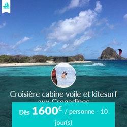 Miniature de l'offre de croisière cabine Skippair voile et kitesurf avec Fabien aux Grenadines