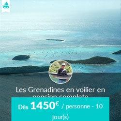 Miniature de l'offre de croisière Skippair en pension complète avec Alain aux Grenadines