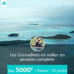 Miniature de l'offre de croisière Skippair en pension complète et bateau entier avec Alain aux Grenadines