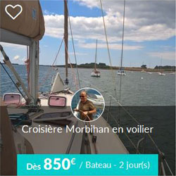 Miniature de l'offre de croisière Skippair dans le golfe du Morbihan avec Jean-Philippe