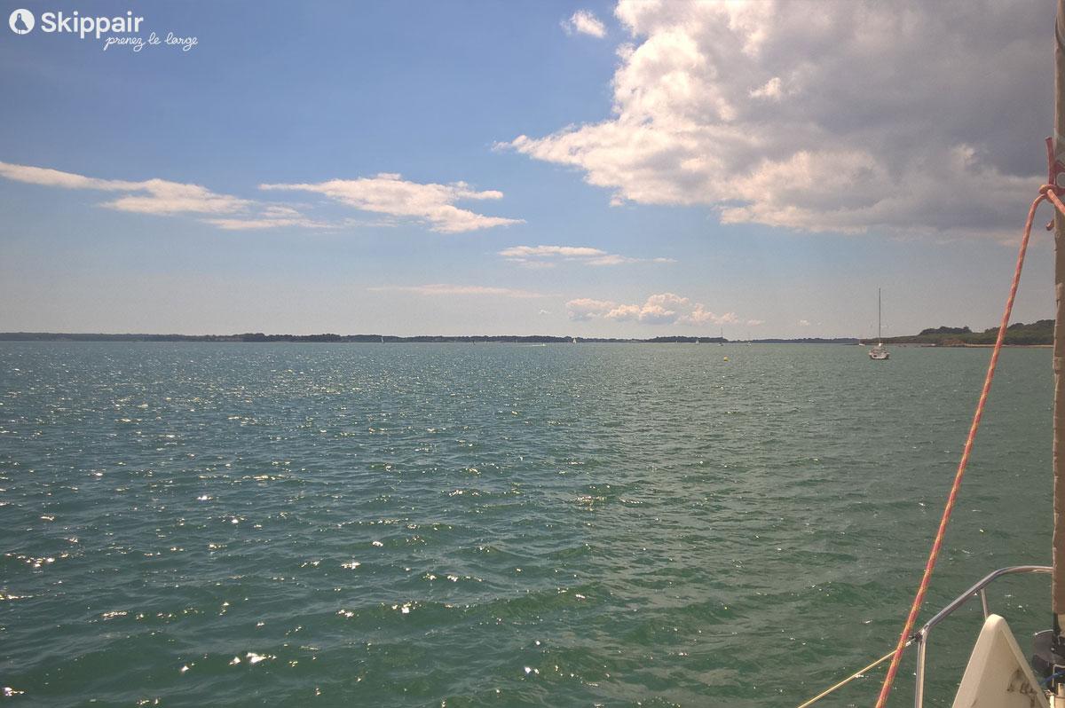 Mer calme sur le golfe du Morbihan - Skippair