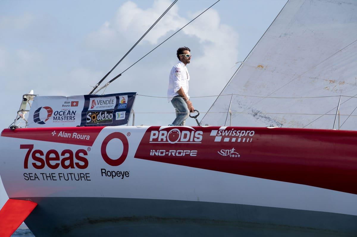 Du haut de ses 23 ans, Alan Roura s'apprête à prendre la barre du monocoque Superbigou sur le Vendée Globe 2016-2017 - Christophe Breschi